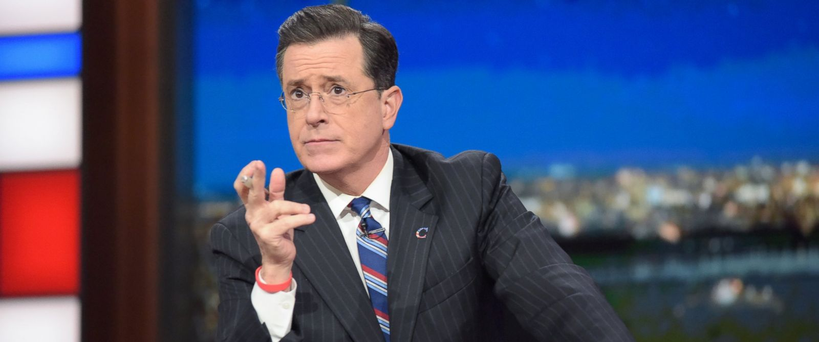 PHOTO: Stephen Colbert is pictured on The Late Show with Stephen Colbert in New York City, Jan. 19, 2017.