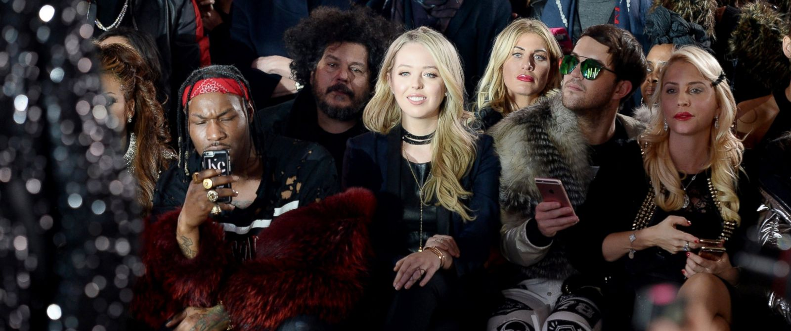 PHOTO: Tiffany Trump attends the Front Row for the Philipp Plein Fall/Winter 2017/2018 Womens And Mens Fashion Show at The New York Public Library, Feb. 13, 2017, in New York.