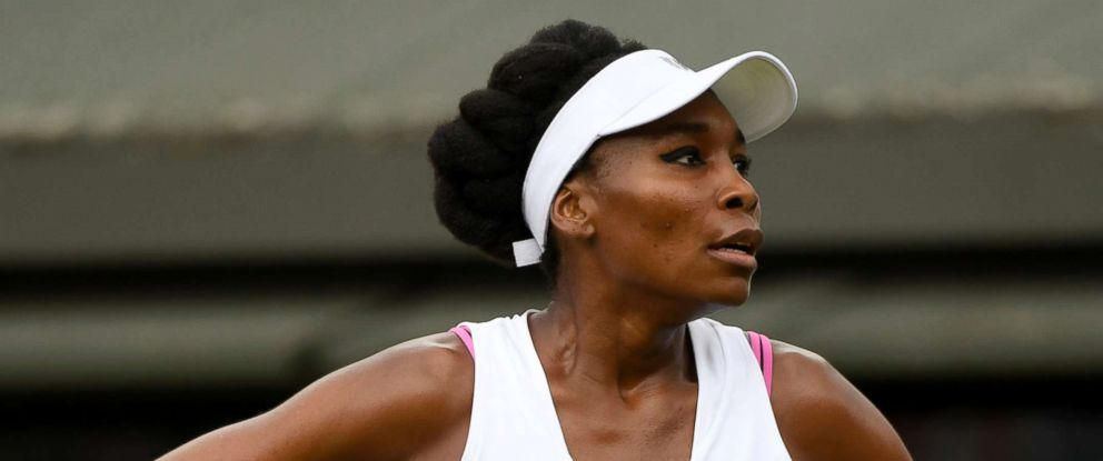 PHOTO: Venus Williams during her first match at the championships Wimbledon 2017 vs Elise Mertens July 3, 2017, in London.