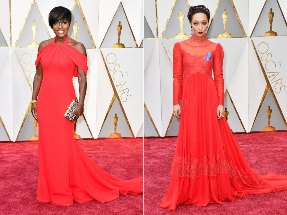 PHOTO: (L-R) Viola Davis and Ruth Negga attend the 89th Annual Academy Awards at Hollywood & Highland Center, Feb. 26, 2017 in Hollywood, Calif.