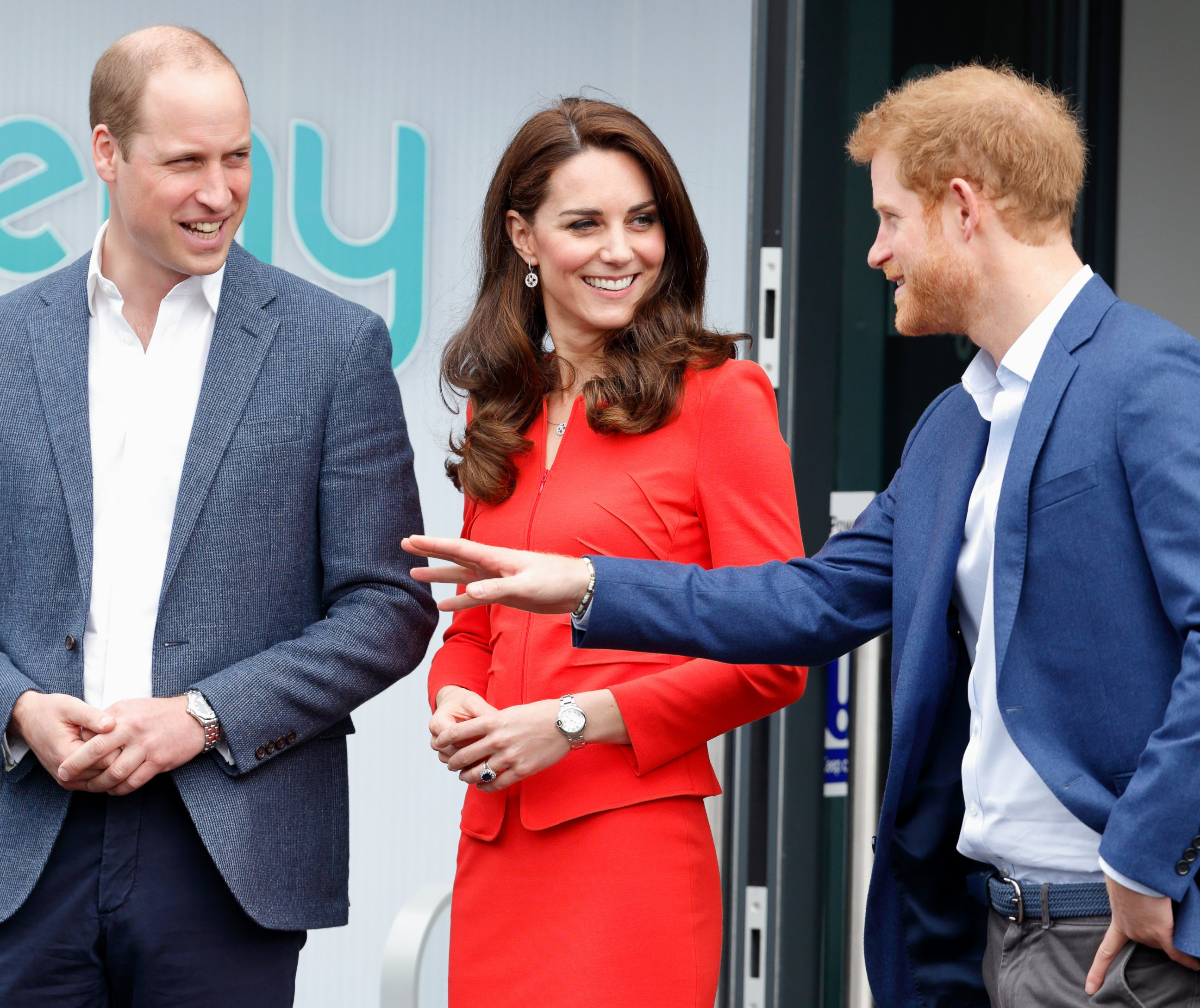 Prince William, Duchess Kate and Prince Harry step out in England