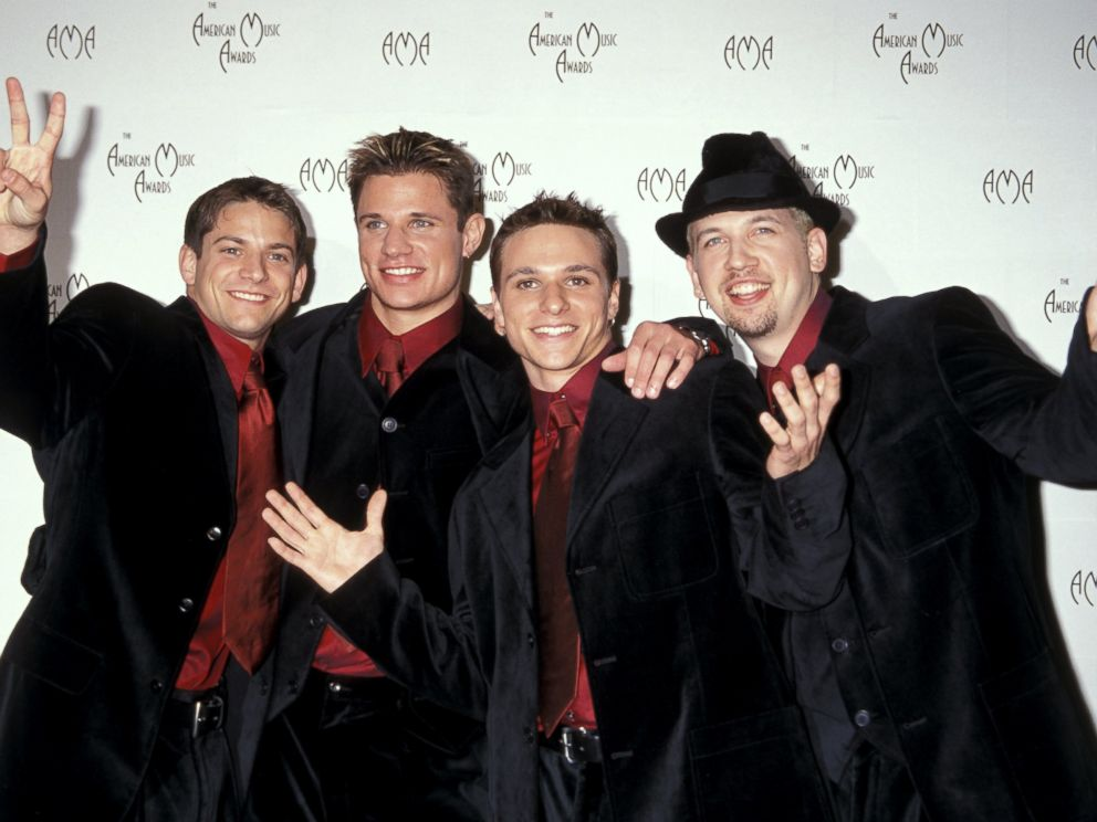 PHOTO: Jeff Timmons, Nick Lachey, Drew Lachey, and Justin Jeffre of 98 Degrees.