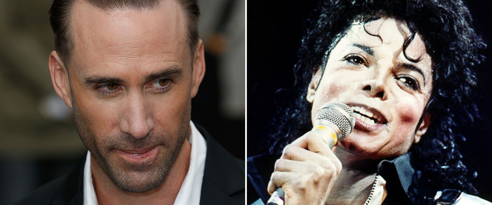 PHOTO: Joseph Fiennes and Michael Jackson.