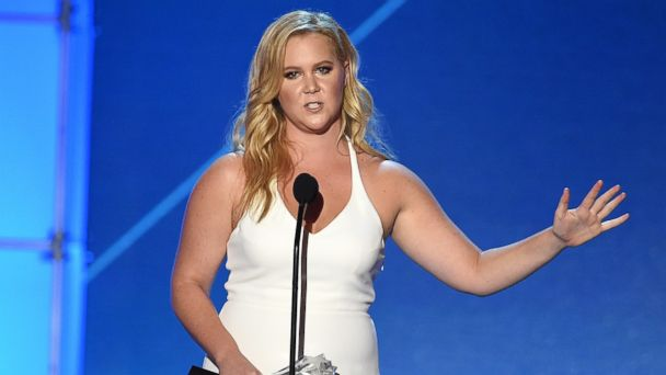 PHOTO: Actress-writer Amy Schumer accepts Critics' Choice MVP Award onstage during the 21st Annual Critics' Choice Awards at Barker Hangar on Jan. 17, 2016 in Santa Monica, Calif.