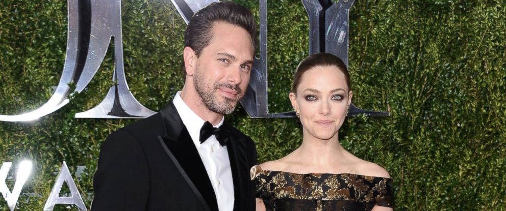 PHOTO: Thomas Sadoski and Amanda Seyfried attend the American Theatre Wings 69th Annual Tony Awards at Radio City Music Hall, on June 7, 2015, in New York City.