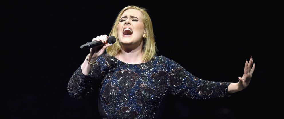 PHOTO: Singer Adele performs on stage during her North American tour at Staples Center, on Aug. 5, 2016, in Los Angeles.