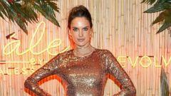 Supermodel Alessandra Ambrosio Strikes a Pose in Gold