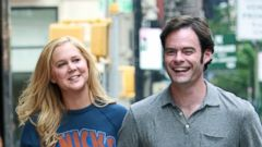 Amy Schumer Shoots Trainwreck With Bill Hader