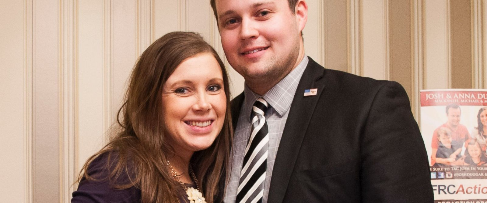 PHOTO: Anna Duggar and Josh Duggar pose during the 42nd annual Conservative Political Action Conference at the Gaylord National Resort Hotel and Convention Center in this Feb. 28, 2015 file photo in National Harbor, Md.