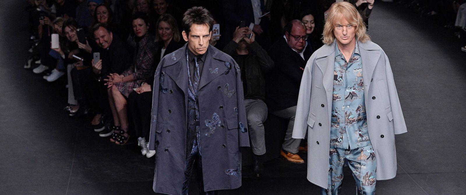 PHOTO: Zoolander stars Ben Stiller (L) and Owen Wilson (R) walk the runway at the Valentino Autumn Winter 2015 fashion show during Paris Fashion Week on March 10, 2015 in Paris.