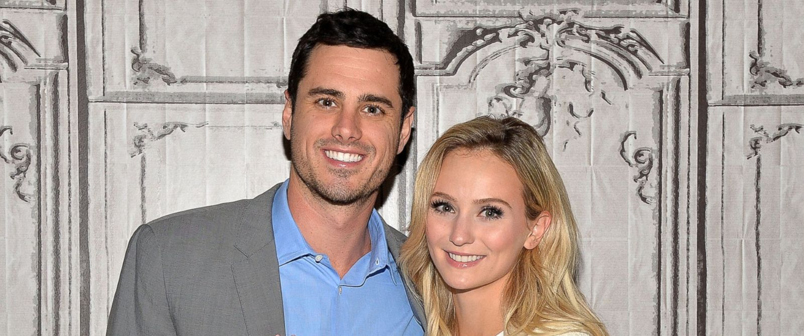 "PHOTO: Bachelor Ben Higgins and Lauren Bushnell attend the AOL Build Speaker Series to discuss ""The Bachelor"" at AOL Studios on March 15, 2016 in New York City."