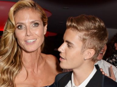 Photos: Justin Bieber Gets Close to Heidi Klum