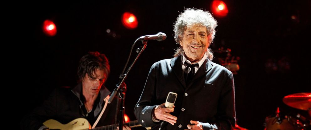 PHOTO: Bob Dylan onstage during the 17th Annual Critics Choice Movie Awards held at The Hollywood Palladium on Jan. 12, 2012 in Los Angeles.
