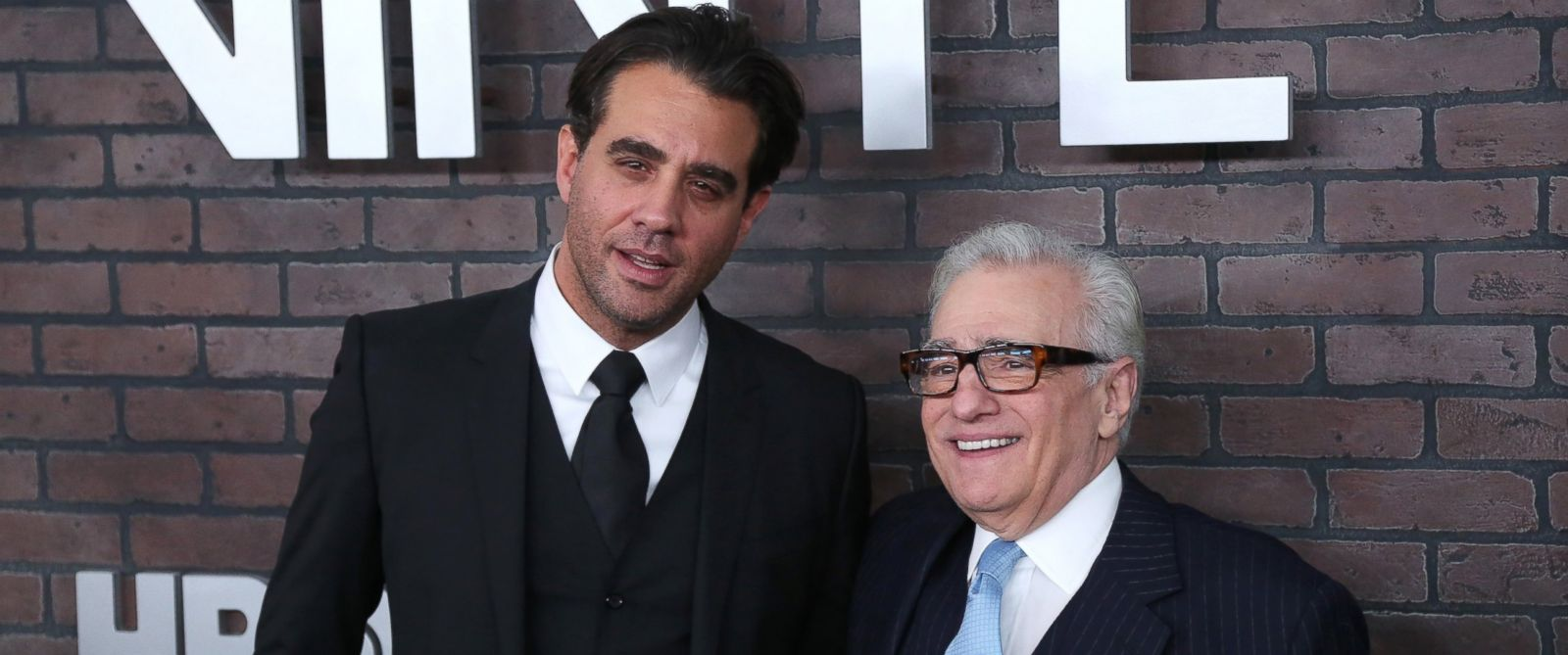 "PHOTO: Bobby Cannavale and Martin Scorsese attend the New York Premiere of ""Vinyl"" at Ziegfeld Theatre, Jan.15, 2016, in New York."