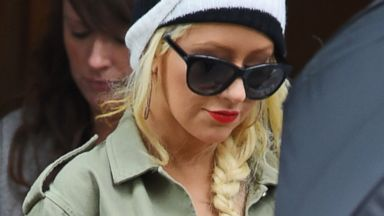 Pregnant Christina Aguilera Steps Out in NYC