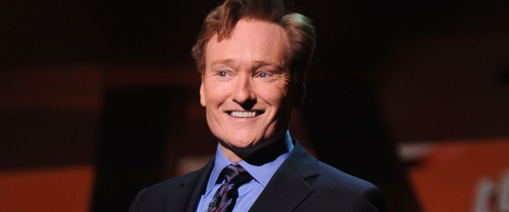 PHOTO: Conan OBrien attends the 2013 TNT/TBS Upfront at Hammerstein Ballroom on May 15, 2013 in New York City.