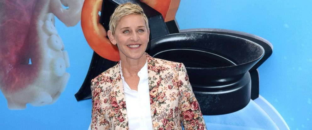 "PHOTO: Ellen DeGeneres attends the UK Premiere of ""Finding Dory"" at Odeon Leicester Square, July 10, 2016, in London."