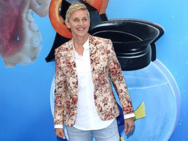 PHOTO: Ellen DeGeneres attends the UK Premiere of Finding Dory at Odeon Leicester Square, July 10, 2016, in London.
