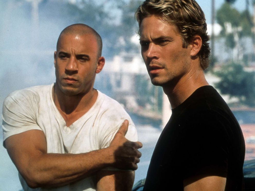 Paul Walker in a scene from the film The Fast And The Furious