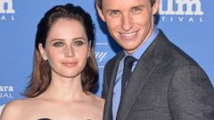 Oscar Nominees Felicity Jones and Eddie Redmayne Hit the Carpet