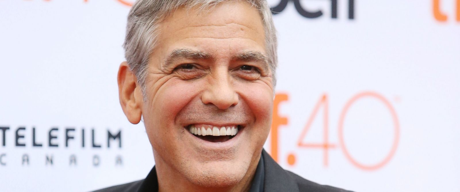 "PHOTO: George Clooney arrives at ""Our Brand Is Crisis"" premiere during 2015 Toronto International Film Festival held at Princess of Wales Theatre on Sept. 11, 2015 in Toronto."