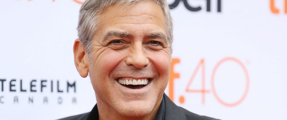 """PHOTO: George Clooney arrives at """"Our Brand Is Crisis"""" premiere during 2015 Toronto International Film Festival held at Princess of Wales Theatre on Sept. 11, 2015 in Toronto."""
