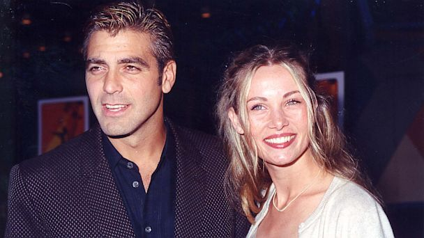 "PHOTO: George Clooney and Celine Balitran at the 1998 premiere of ""Out of Sight"" in Los Angeles."