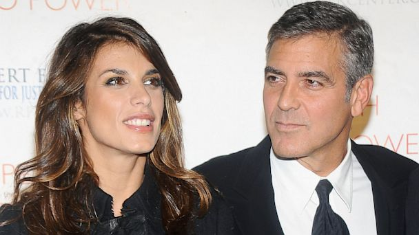 PHOTO: Elisabetta Canalis and George Clooney attend the 2010 Robert F. Kennedy Center for Justice & Human Rights Ripple of Hope Awards Dinner at Pier Sixty at Chelsea Piers, November 17, 2010 in New York.