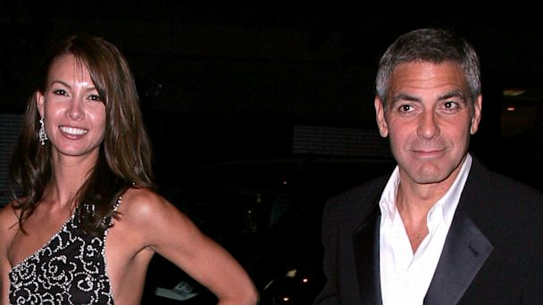 "PHOTO: Sarah Larson and actor George Clooney sighted in the streets after attending the ""Superheroes: Fashion and Fantasy"" Costume Institute Gala, May 5, 2008 in New York."