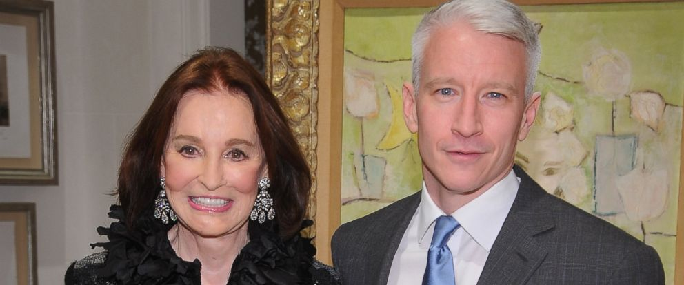 """PHOTO: Gloria Vanderbilt and Anderson Cooper attend the launch party for """"The World Of Gloria Vanderbilt"""" at the Ralph Lauren Womens Boutique, Nov. 4, 2010, in New York."""