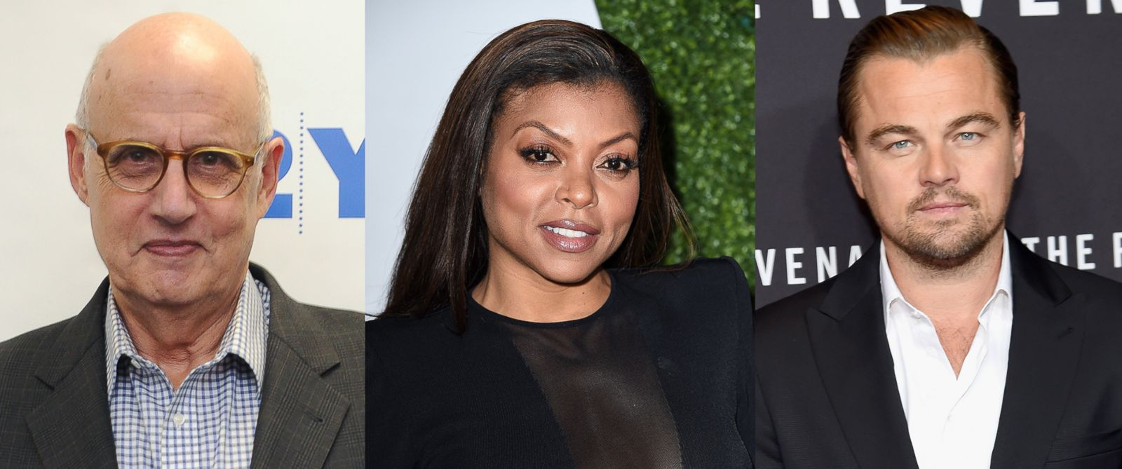 PHOTO: Jeffrey Tambor attends 92Y Talks on Dec. 14, 2015 in New York. Taraji P. Henson attends the GQ 20th Anniversary Men Of The Year Party on Dec. 3, 2015 in Los Angeles. Leonardo DiCaprio attends The Revenant New York special screening, Jan. 6, 2016.
