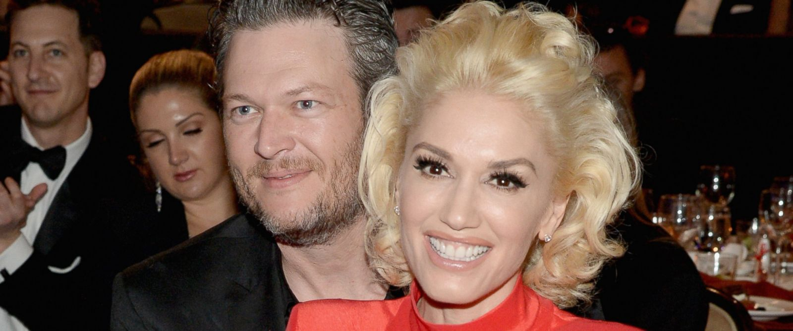 PHOTO: Blake Shelton and Gwen Stefani attend the 2016 Pre-GRAMMY Gala and Salute to Industry Icons honoring Irving Azoff at The Beverly Hilton Hotel, Feb. 14, 2016, in Beverly Hills, California.
