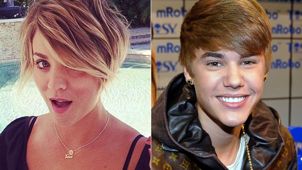 PHOTO: Kaley Cuoco posted this photo to Instagram, May 31, 2014. | Justin Bieber arrives at a press event, Jan. 11, 2012, in Las Vegas.