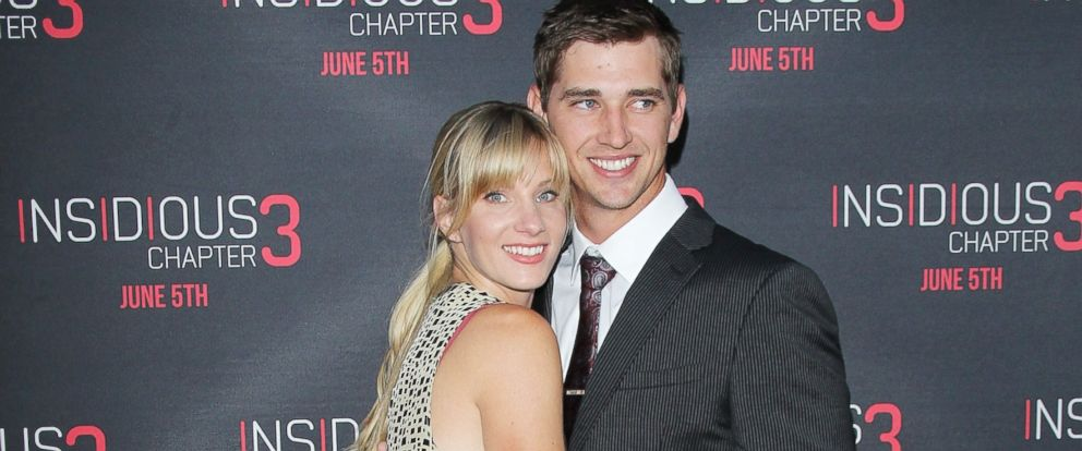 """PHOTO: Heather Morris and husband, Taylor Hubbell arrive at the Los Angeles premiere of """"Insidious: Chapter 3"""" held at TCL Chinese Theatre IMAX, June 4, 2015, in Hollywood, Calif."""