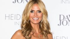 Heidi Klum Sparkles In a Strapless Mini