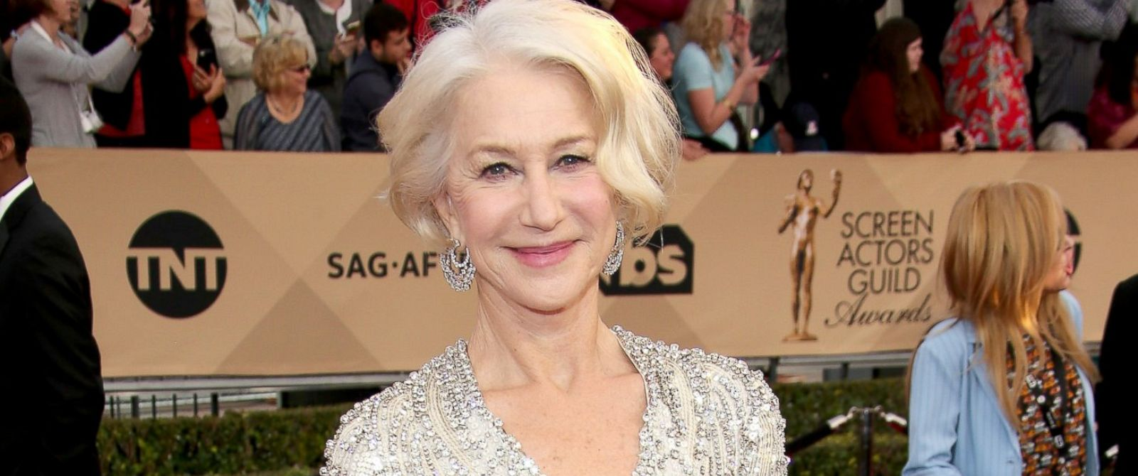 PHOTO: Actress Helen Mirren attends the 22nd Annual Screen Actors Guild Awards at The Shrine Auditorium, Jan. 30, 2016, in Los Angeles.