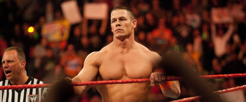 PHOTO: John Cena waits in the ring to face his opponents during WWEs Monday Night Raw at Rose Garden arena, March 08, 2010, in Portland, Oregon.