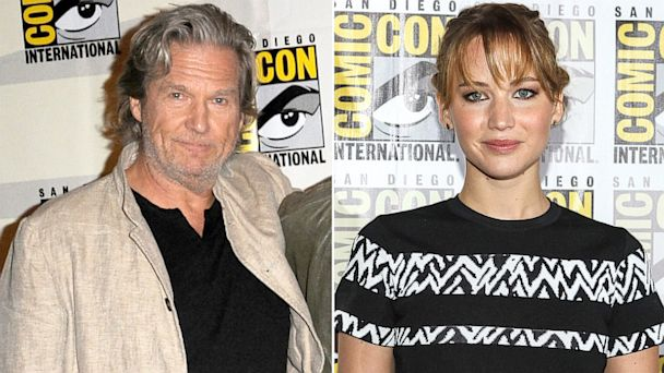 GTY Jennifer Lawrence Jeff Bridges nt 130724 16x9 608 Watch Jennifer Lawrence Get Starstruck Over Jeff Bridges