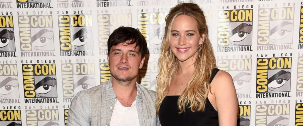 PHOTO: Actors Josh Hutcherson and Jennifer Lawrence are seen, July 9, 2015, in San Diego, Calif.