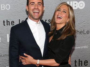 PHOTO: Actors Justin Theroux and Jennifer Aniston attend The Leftovers premiere at NYU Skirball Center, June 23, 2014, in New York.