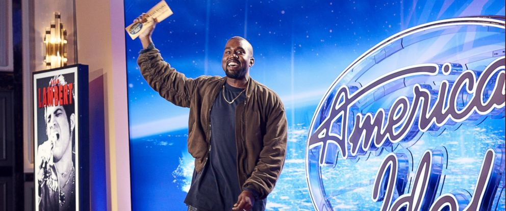 PHOTO: Kanye West surprises the Judges and Ryan Seacrest on American Idol by auditioning in San Francisco in Jan. 2016 on FOX Network.