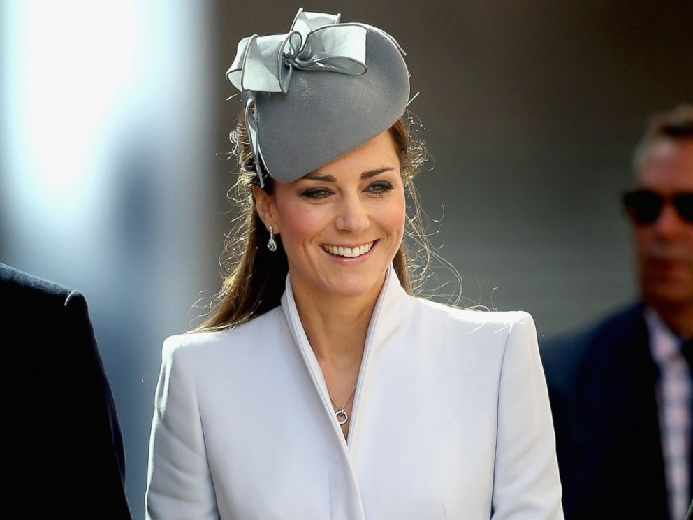 PHOTO: Catherine, Duchess of Cambridge arrives at St Andrews Cathedral for Easter Sunday Service on April 20, 2014 in Sydney, Australia.