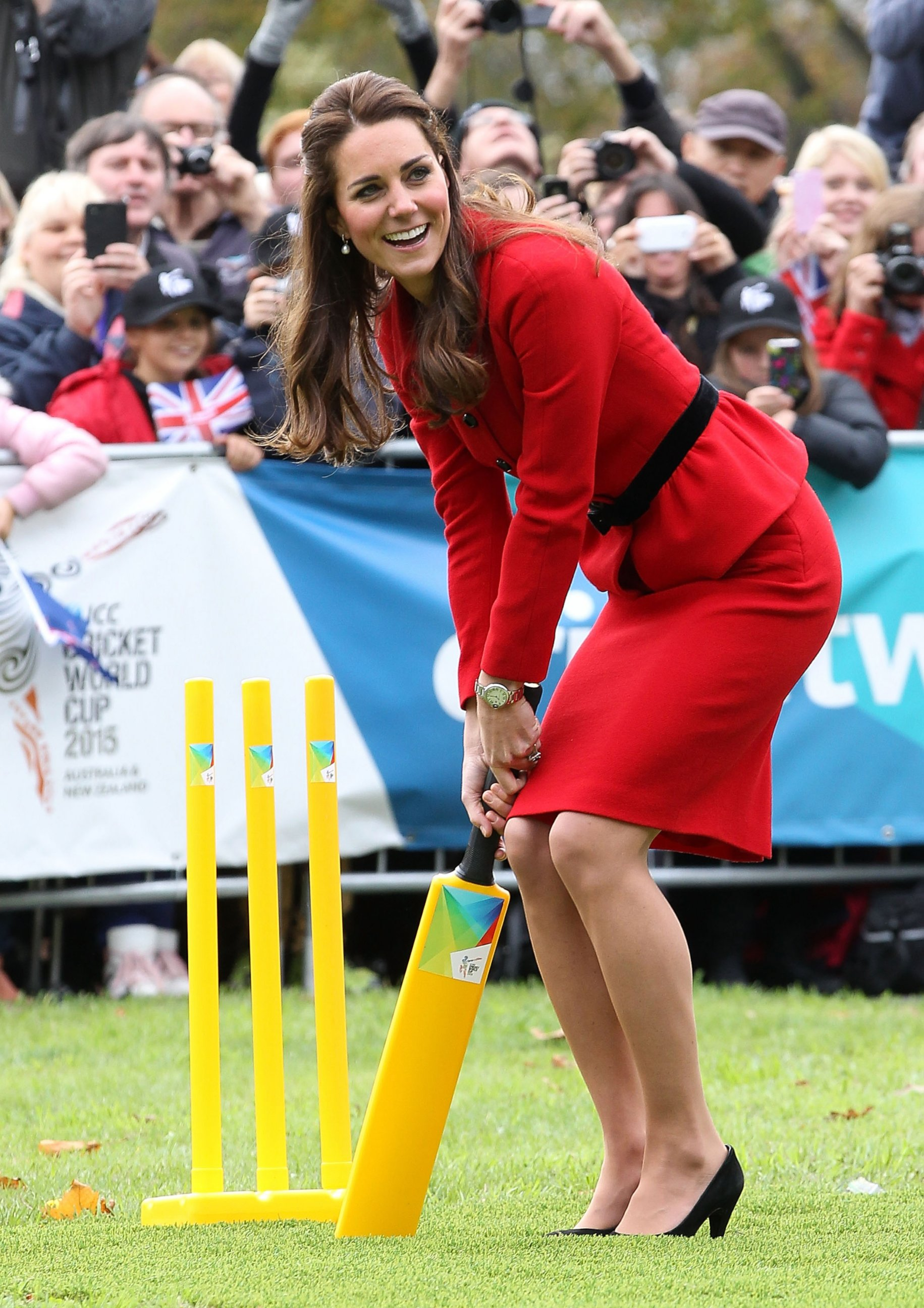 See Kate Middleton Play Cricket in Heels