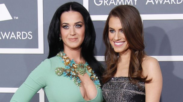 PHOTO: Katy Perry and Allison Williams arrive at the 55th Annual Grammy Awards at the Staples Center on Feb. 10, 2013 in Los Angeles.