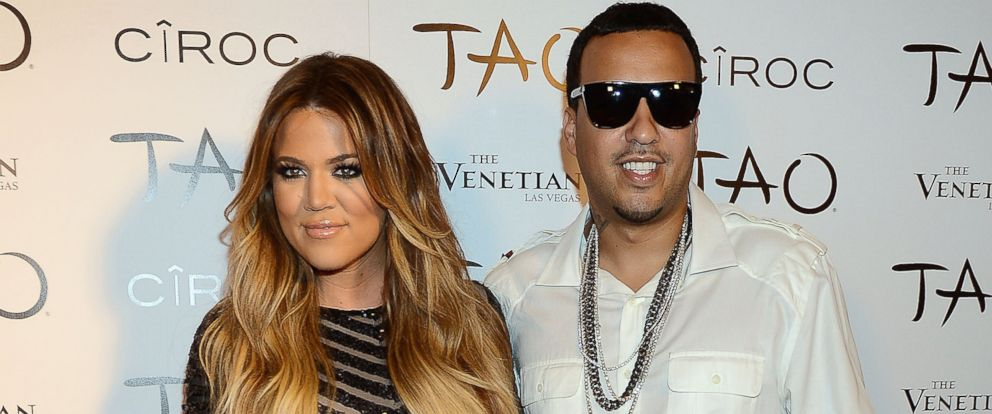 PHOTO: Khloe Kardashian and French Montana arrive at Khloe Kardashians 30th birthday party at TAO Nightclub, July 4, 2014, in Las Vegas.
