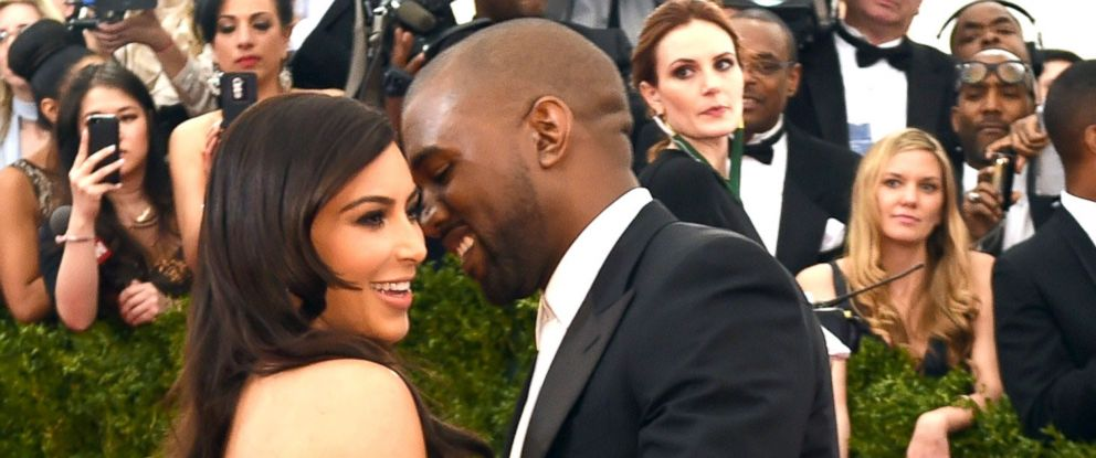 PHOTO: Kanye West and Kim Kardashian arrive at the Costume Institute Benefit at The Metropolitan Museum of Art May 5, 2014 in New York.