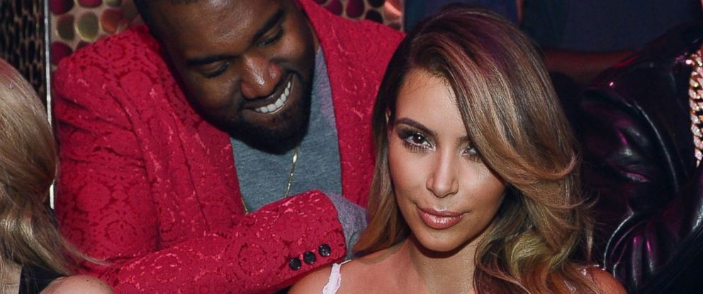 PHOTO: Kanye West and Kim Kardashian celebrate Kim Kardashians 33rd birthday at Tao Las Vegas on October 25, 2013 in Las Vegas, Nevada.