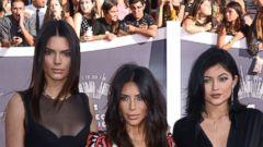 Kendall Jenner, Kim Kardashian and Kylie Jenner Rock the VMAs Carpet
