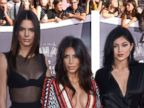 Kendall Jenner, Kim Kardashian and Kylie Jenner Rock the VMAs Carpet