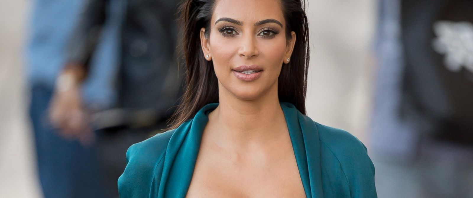 "PHOTO: Kim Kardashian is seen at ""Jimmy Kimmel Live,"" Aug. 4, 2014 in Los Angeles."